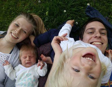 Sara, Simon, Zala in Erazem. Vir: Arhiv družine Brezovnik