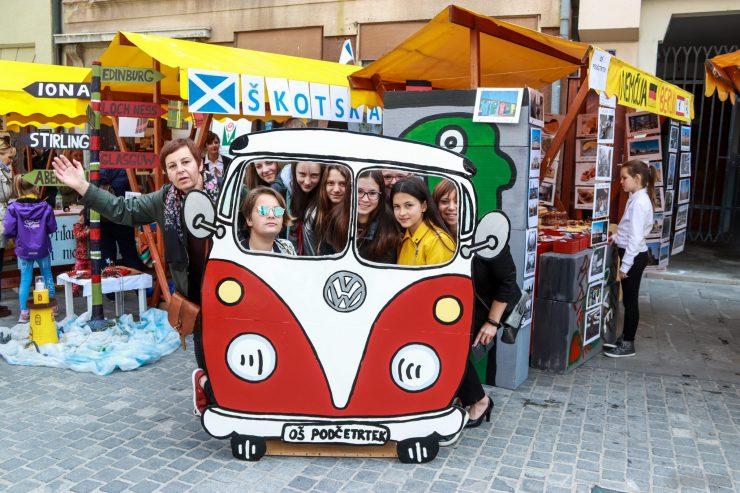 Škotska v Evropski vasi. Vir: III. Osnovna šola Celje
