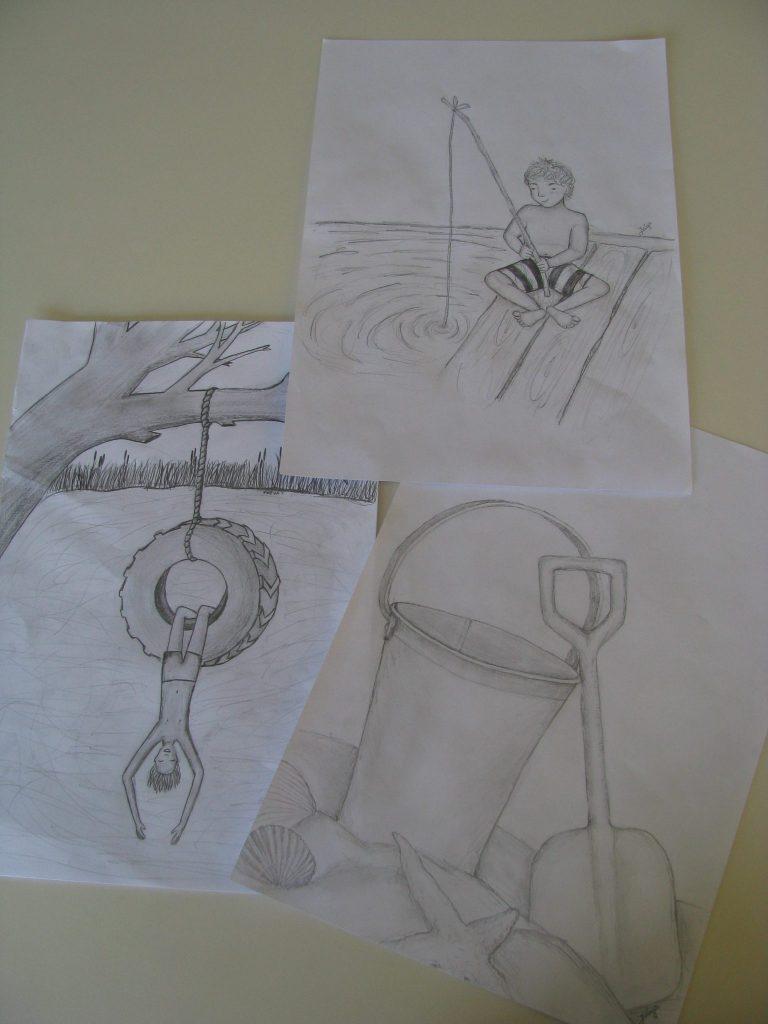 Naloge krasijo risbe učencev. Vir: Arhiv OŠ Draga Bajca Vipava