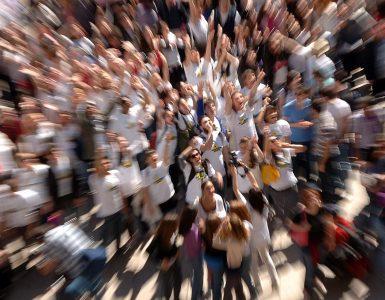 Utrinek z zborovanja mladih v Milanu, ki je potekal pod naslovom Evropa, ali me slišiš. Vir: EC - Audiovisual Service