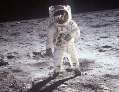 Človek na luni. Vir: Nasa