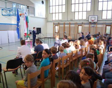 Zaključna seja šolske skupnosti OŠ Miška Kranjca. VIr: Osebni arhiv