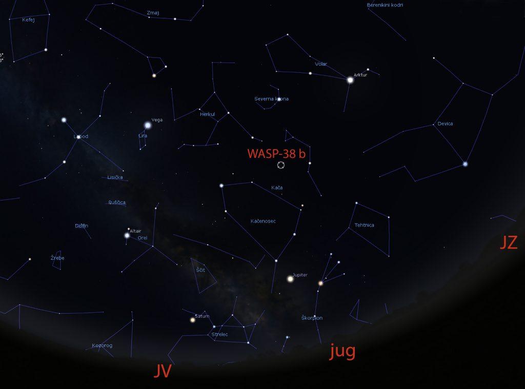 WASP-38 b. Vir: Arhiv Portala v vesolje