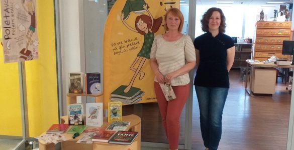 Erika Žitko, vodja projekta Poletavci (levo) in Vesna Trobec, strokovna sodelvka za stike z javnostmi. Foto: Maša Tukarić