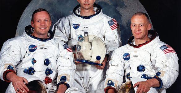 Ekipa astronavtov Apolla 11: Neil Armstrong, Michael Collins in Buzz Aldrin. Vir: Nasa