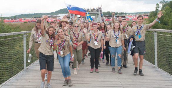 Slovenska odprava na 24. Svetovnem skavtskem jamboreeju. Foto: Žiga Brenčič