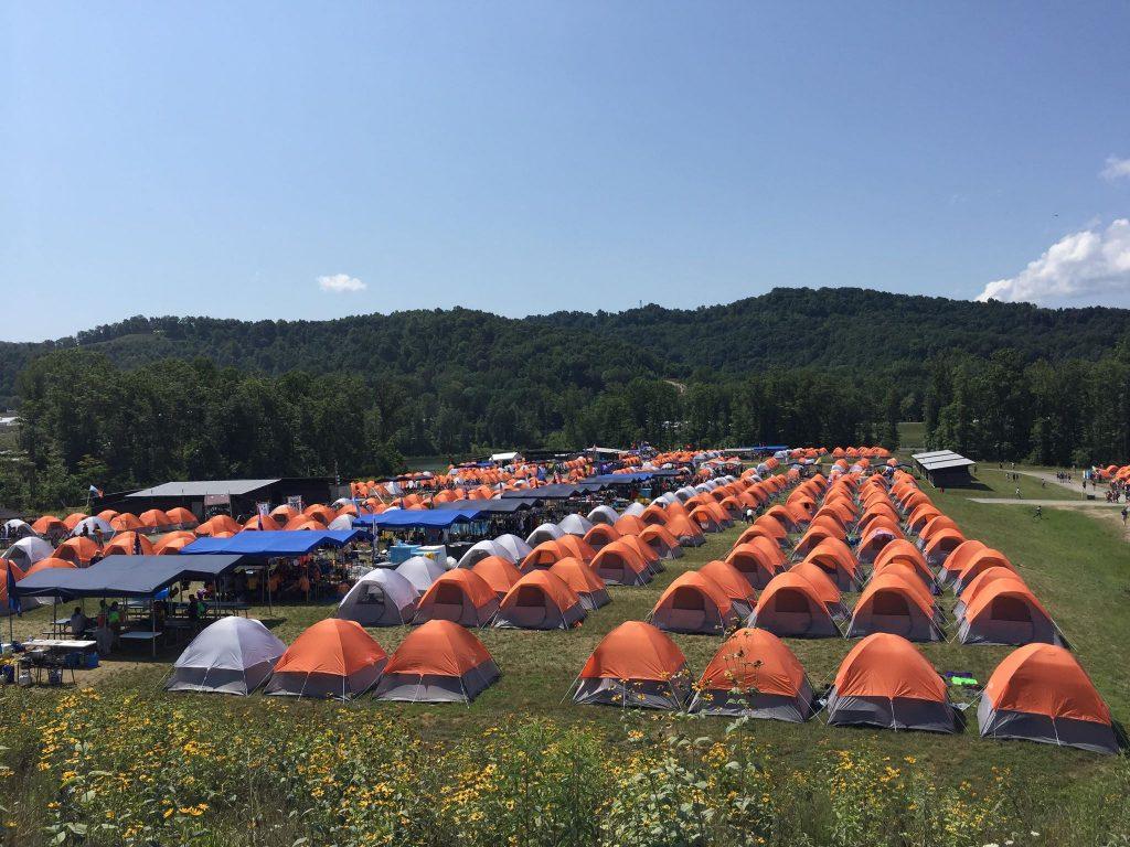 Velikost tabora je presenetila celo najbolj izkušene. Foto: Iza Jaklič