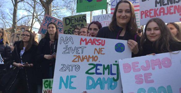 Podnebni štrajk marca 2019. Foto: Sonja Merljak/Časoris