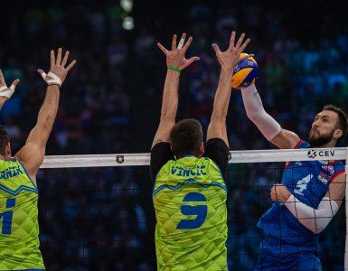 Srbi so v finalu premagali Slovence. Vir: Odbojkarska zveza Slovenije