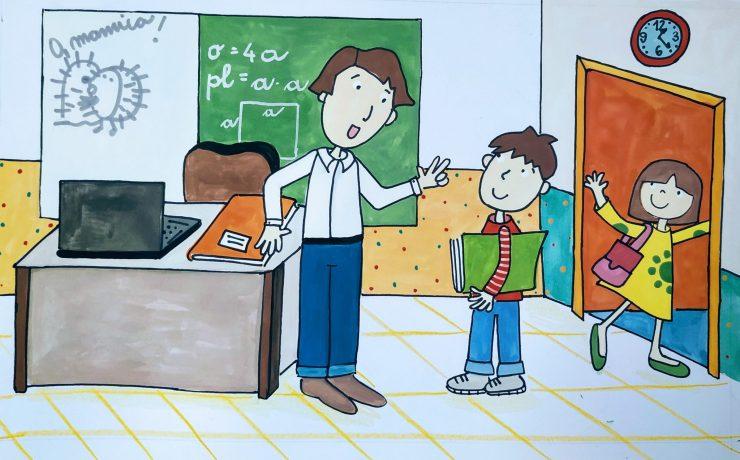 Kako ukrotiti učitelje? Ilustracija: Urška Stropnik Šonc