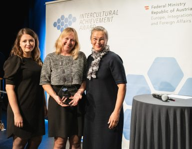 Na podelitvi priznanja Intercultural Achievment Award 2019. Foto: Eugénie Berger/BMEIA