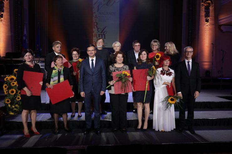 Na slovesnosti v Ljubljani so podelili nagrade za izjemne dosežke na področju šolstva. Foto: Tit Košir