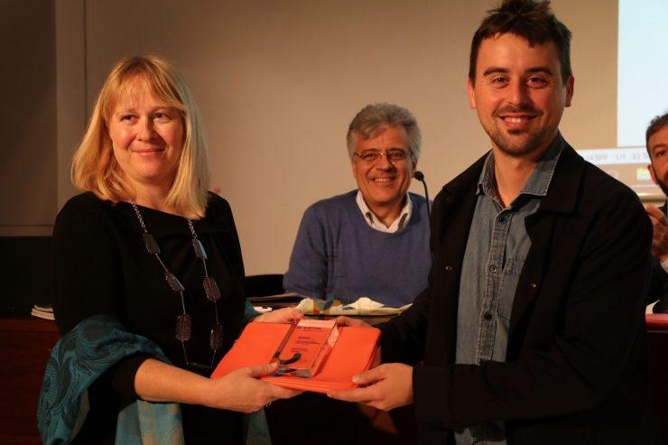 V Barceloni so Časorisu podelili nagrado projekta Clarinet. Vir: Projekt Clarinet