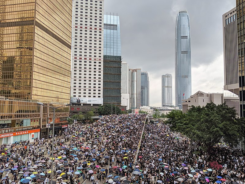 Protesti v Hong Kongu. Vir: Wikipedia
