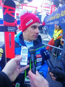 Slalomist Žan Kranjec je zmagovalec četrtega veleslaloma letošnje sezone. Foto: Aleksander Mladenović/STA