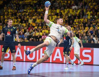 rokometnima reprezentancama Slovenije in Švedske se je izkazal tudi rokometaš Blaž Blagotinšek. Foto: Nebojša Tejić/STA