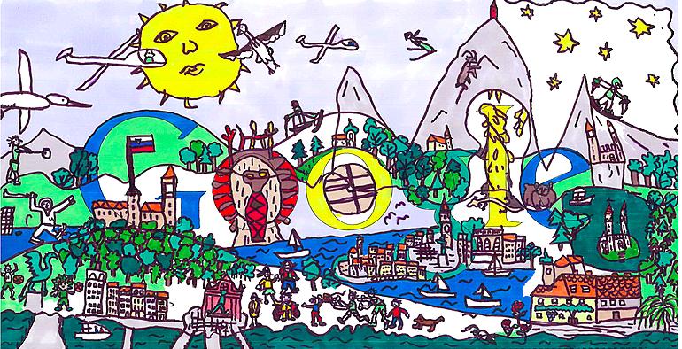 Maksov doodle za Google. Vir: Posnetek zaslona