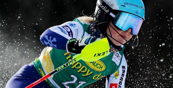 Meta Hrovat med slalomom za 56. Zlato lisico. Foto: Stanko Gruden/STA