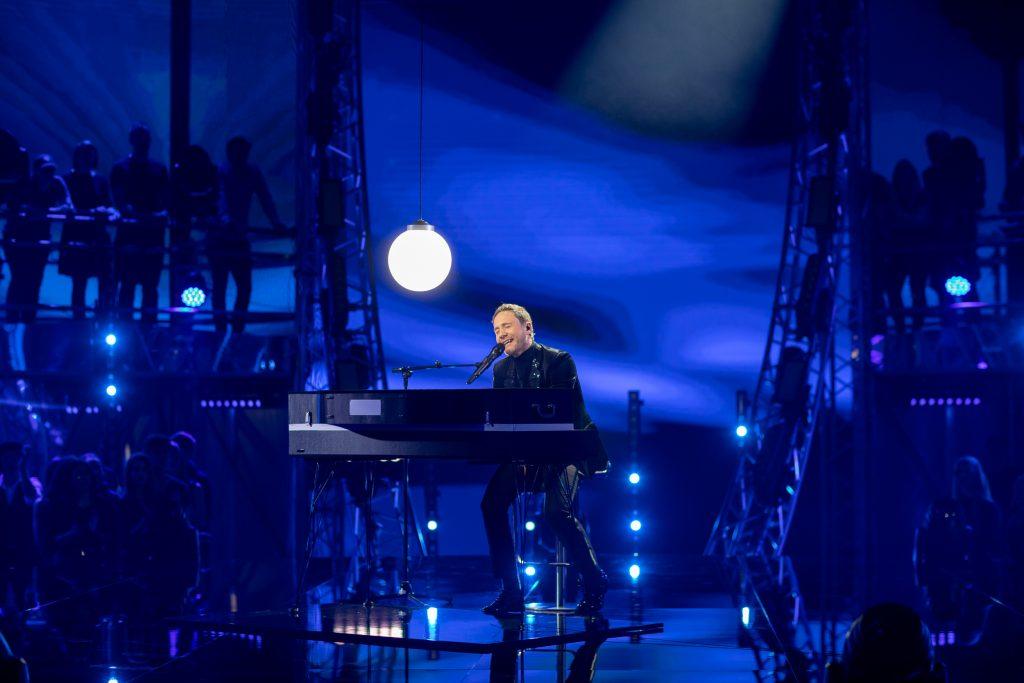 Klemen Slakonja med izvajanjem pesmi Arcade. Foto: Adrijan Pregelj/RTV SLO
