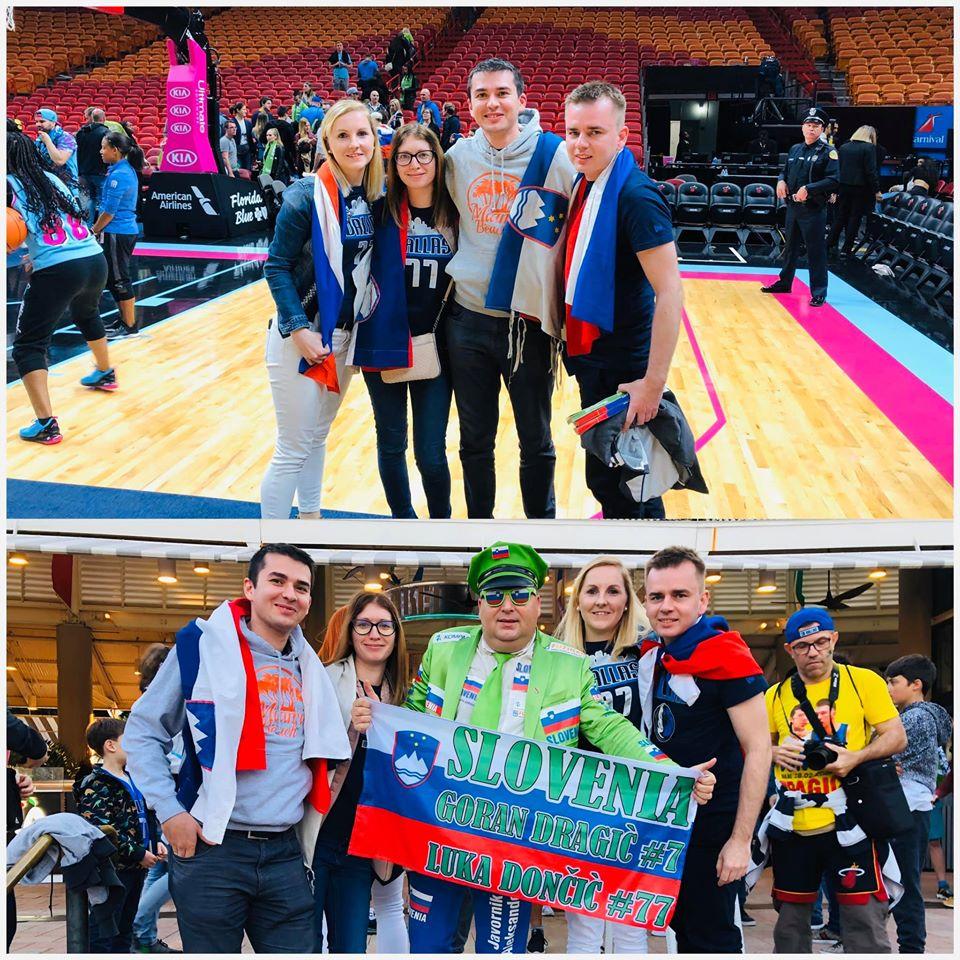 Slovenski navijači so tudi letos množično obiskali Miami. Vir: Osebni arhiv Sandre Hanžič