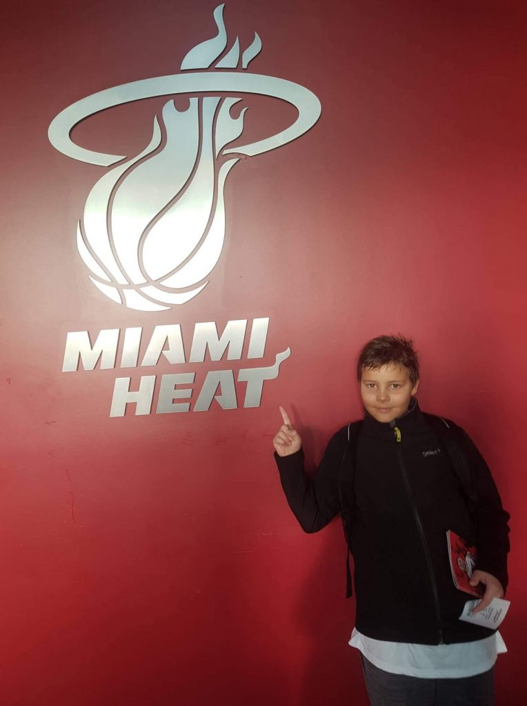 Brin Kotnik v Miamiju leta 2019. Vir: Osebni arniv