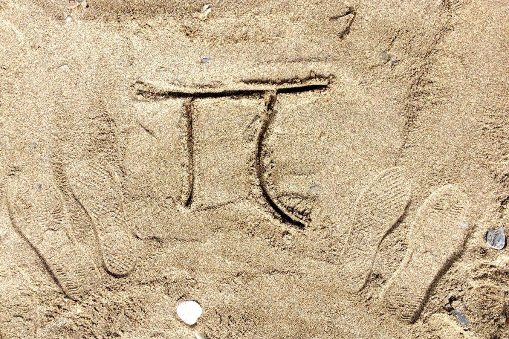 Grška črka pi, ki označuje neskončno dolgo matematično konstanto. Vir: Pxhere