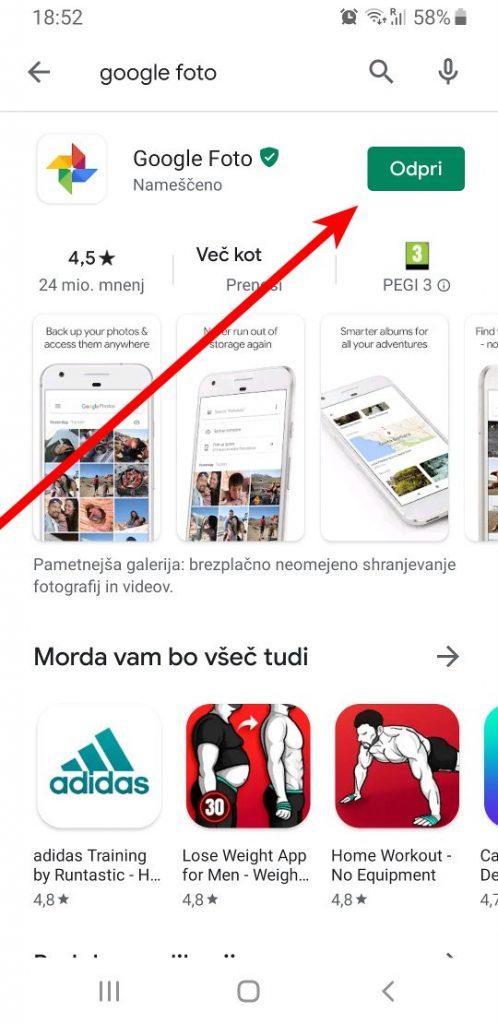 Odpri Google Foto
