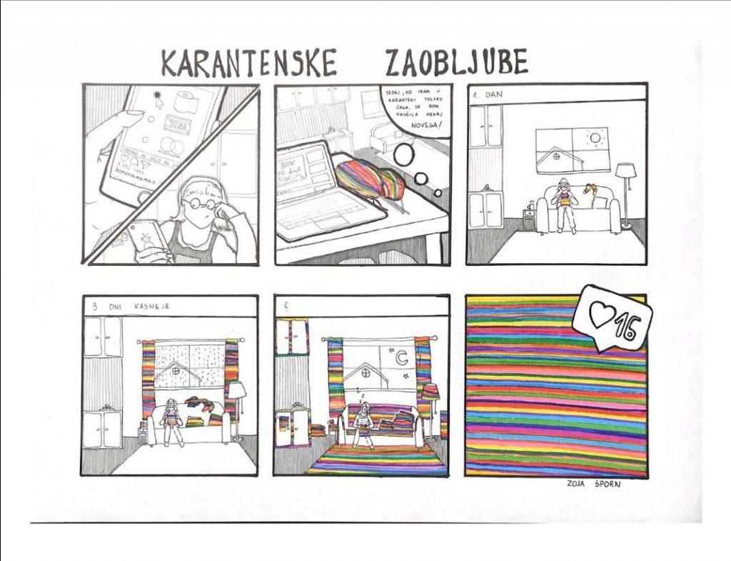 Karantenske zaobljube. Ilustracija: Zoja Šporn/Arhiv JSKD