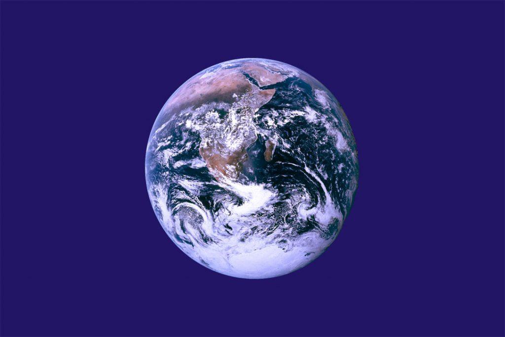 Zastava projekta Dan Zemlje. Vir: Wikipedija