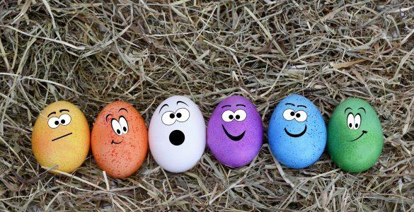 Kakšna bodo pa tvoja obarvana velikonočna jajčka? Vir: Pixabay