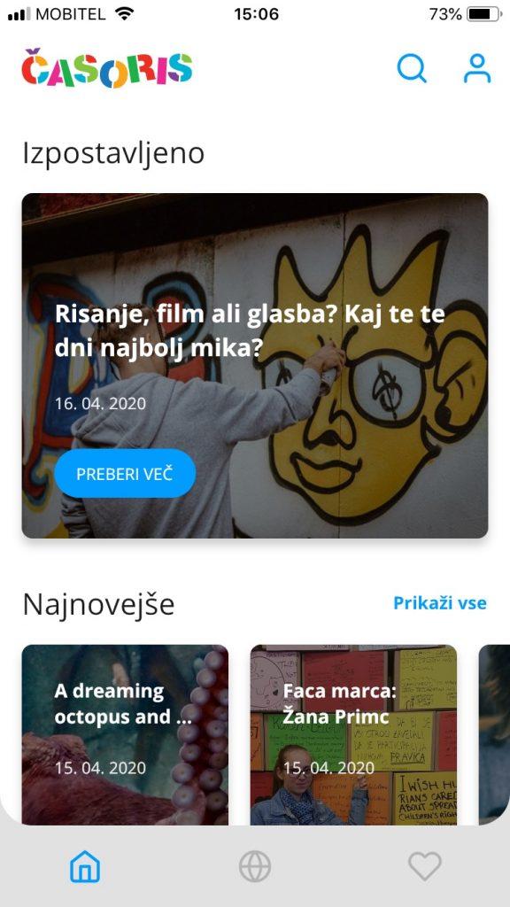Aplikacija Časoris: Vir: Arhiv Časorisa