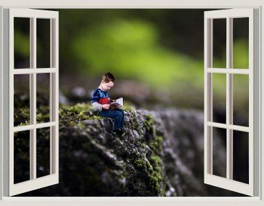 Knjiga je lahko v času epidemije novega koronavirusa tisto okno v svet, ki ga še kako potrebujemo v času, ko ostajamo doma. Vir: Pixabay