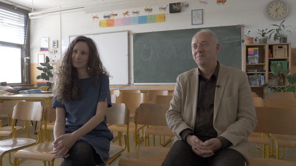 Učiteljica Hana Mačkovšek in ravnatelj Goran Popović. Foto: Anže Sobočan