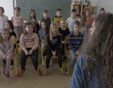 Pevski zbor učencev z OŠ Livada. Foto: Anže Sobočan