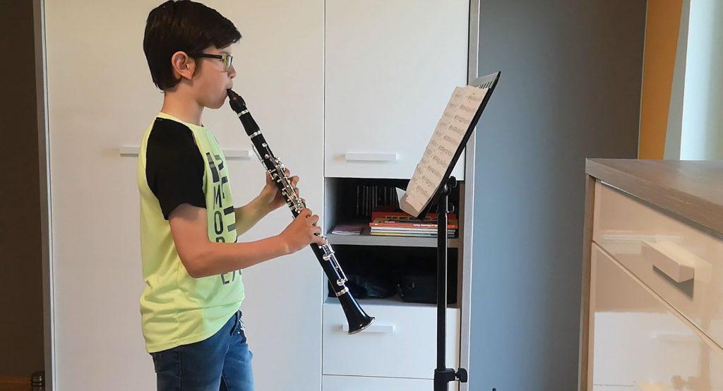 Svit Rozman vadi igranje na klarinet. Vir: Osebni arhiv