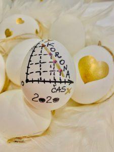 Izdelek pri projektu Matematika na velikonočnih jajcih. Vir: Arhiv šole