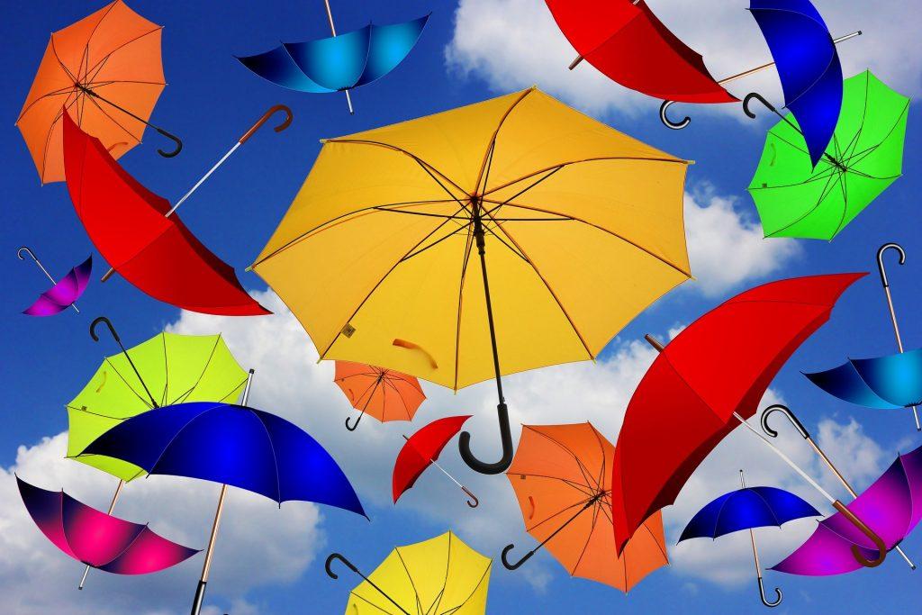 Pisani dežniki. Vir:  Pixabay