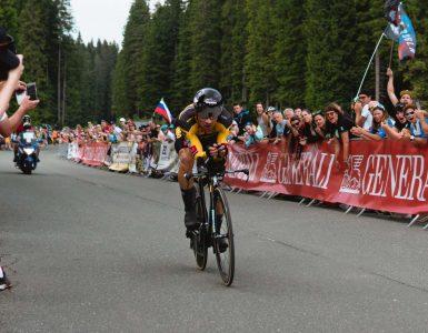 Primož Roglič med državnim prvenstvom v vožnji na čas 2020. Foto: Nik Kranjec/STA