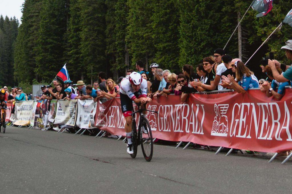 Tadej Pogačar med državnim prvenstvom v vožnji na čas 2020. Foto: Nik Kranjec/STA