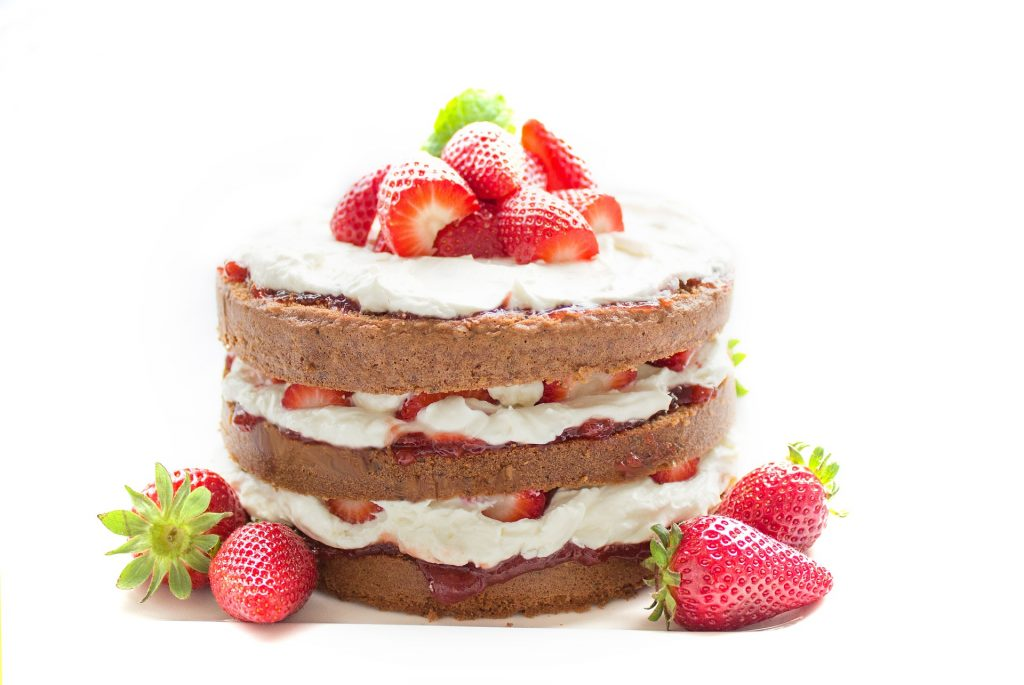 Jagodna torta. Vir: Pixabay