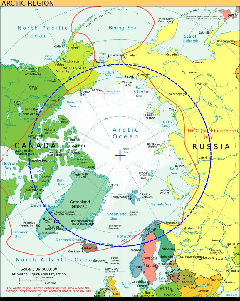 Območje Arktike Vir: Wikipedia