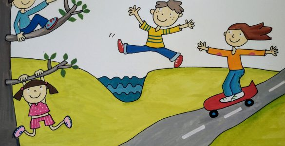 Poletne otroške dogodivščine. Ilustracija: Urška Stropnik Šonc