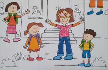 Prvi šolski dan v letu 2020/21. Ilustracija: Urška Stropnik Šonc