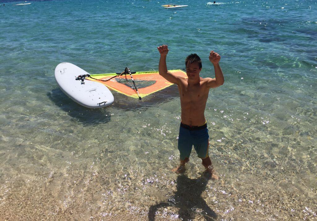 Super je, pravi Nejc Sedej, ko se vrne na obalo. Foto: Sonja Merljak/Časoris