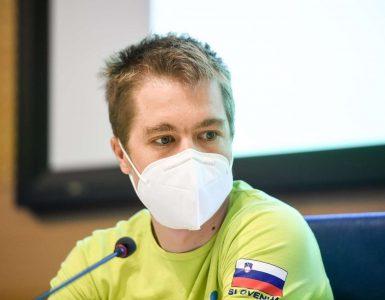 Jan Tratnik na novinarski konferenci pred svetovnim prvenstvom v kolesarstvu. Foto. Nebojša Tejić/STA
