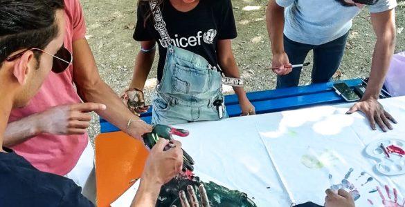 Delavnica v Pacugu na temo Upaj si spreminjati svet! Foto: Foto Tanja Čoprež