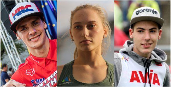 Tim Gajser, Janja Garnbret in Timi Zajc. Fotomontaža: RDŠ/Časoris