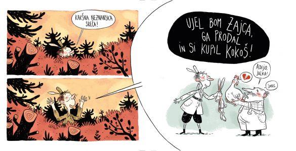 Prizor iz stripa Lovska sreča Igorja Šinkovca. Vir: Arhiv Stripburgerja