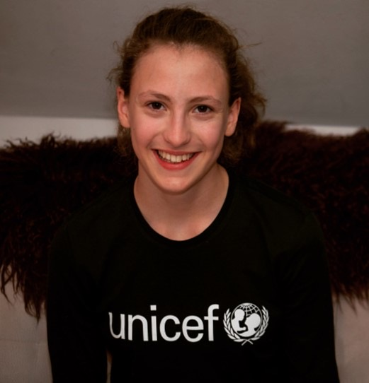 Julija Osojnik, UNICEF-ova junior ambasadorka. Vir: Unicef
