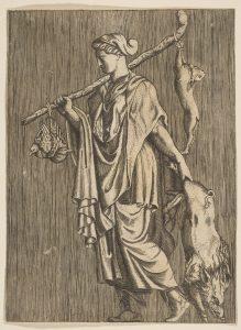 Ženske so lovile tudi v mlajših zgodovinskih obdobjih. Vir: Wikipedia